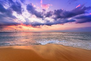 夕焼け・海